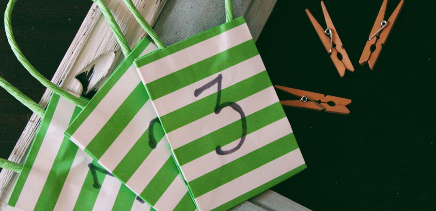 advent calendar bags clothespins