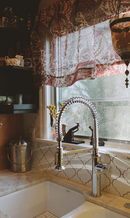 decorate for fall kitchen sink