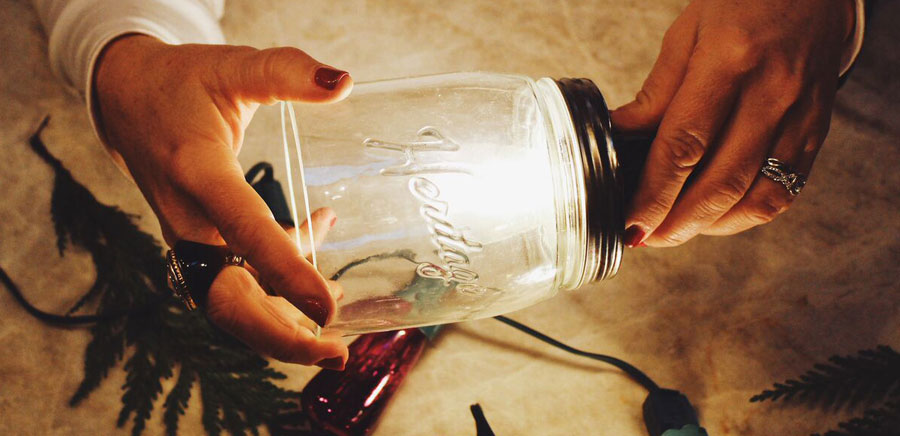 easy diy gift insert light