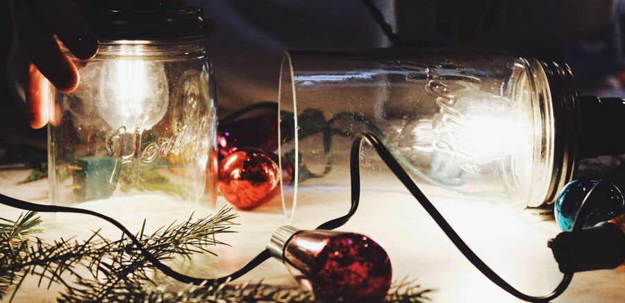 easy diy gift lights in jars