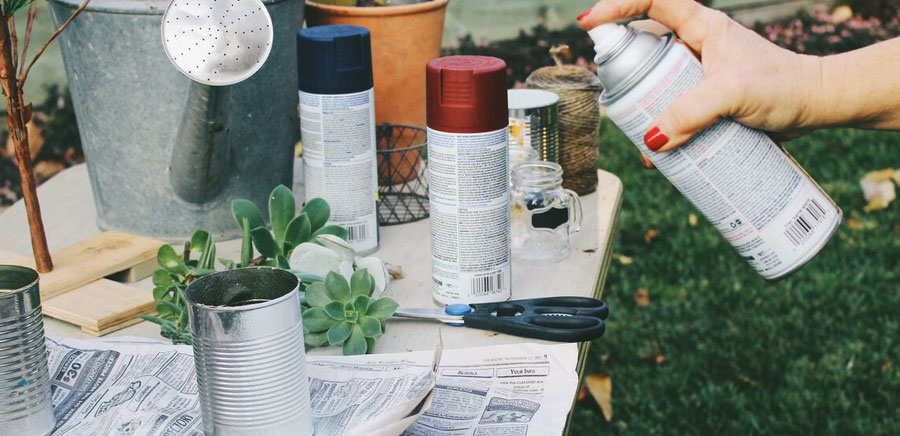easy diy gift spray paint