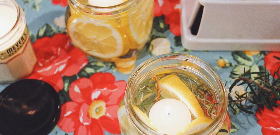 lemon diy candles